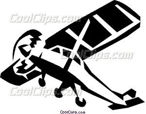 single engine plane Vector Clip art.