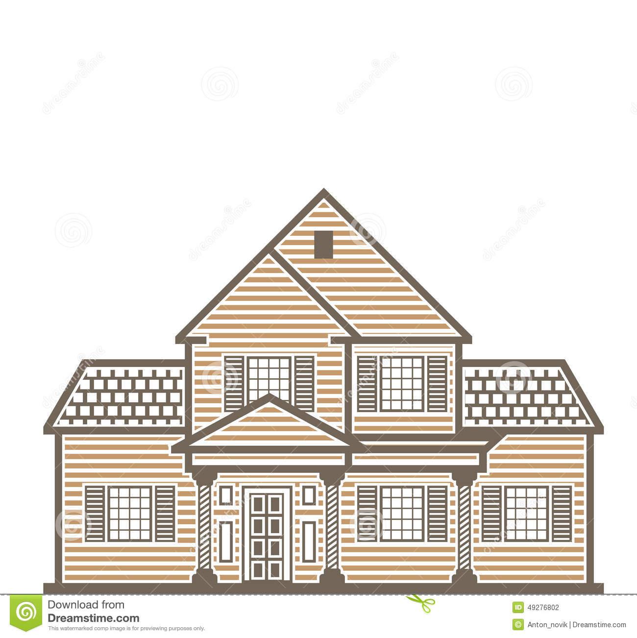 Single Family House Vector Stock Vector.