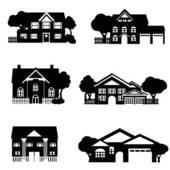 Single Family Home Clip Art.