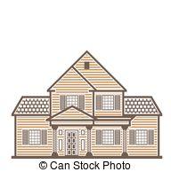 Single family house Stock Illustration Images. 993 Single family.