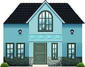 Royalty Free Single Family Home Clip Art.