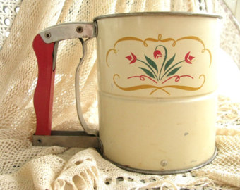 Antique flour sifter.