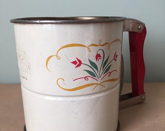 Vintage flour sifter.