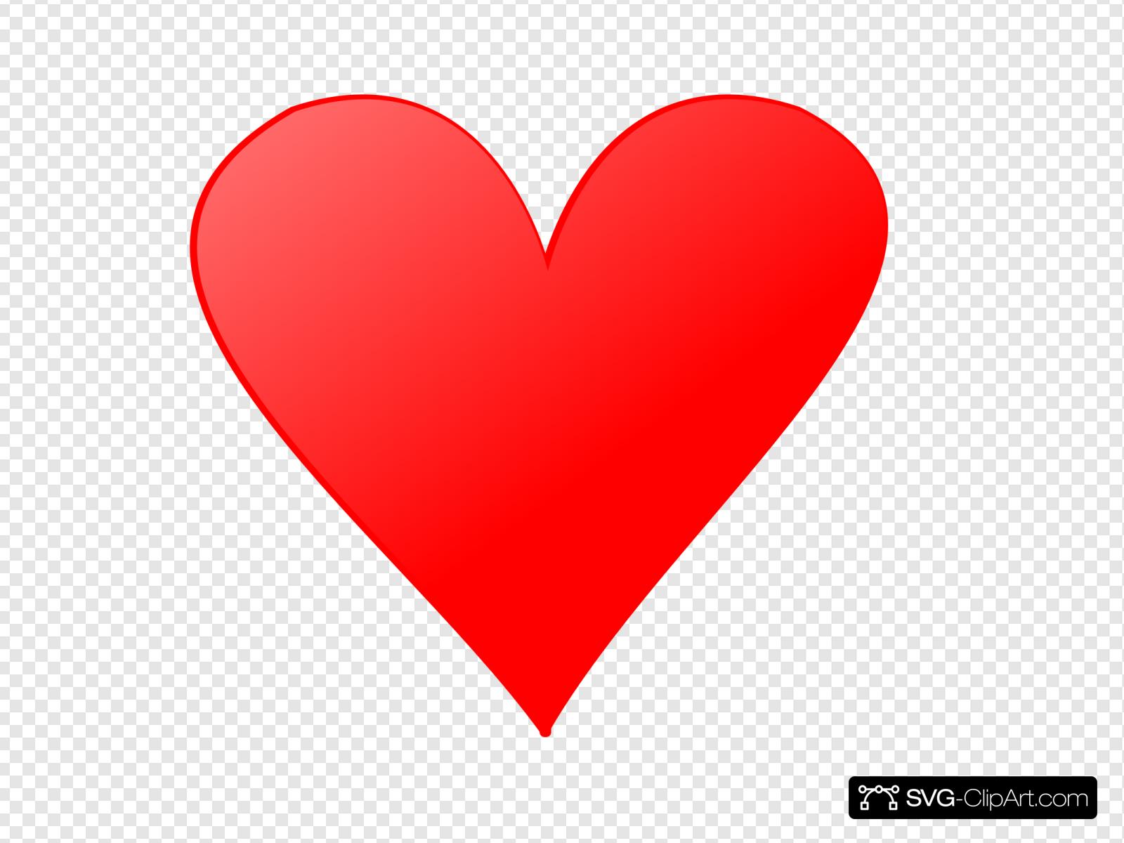 Single Heart Clip art, Icon and SVG.