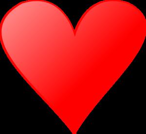 Single Heart Clip Art.