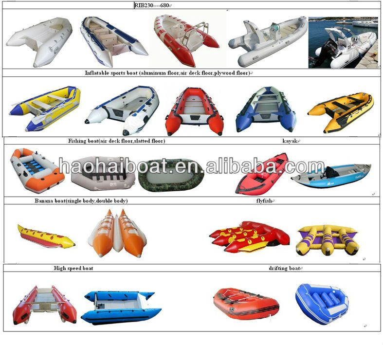 390cm rigid hull fiberglass tender boat made in china, View.