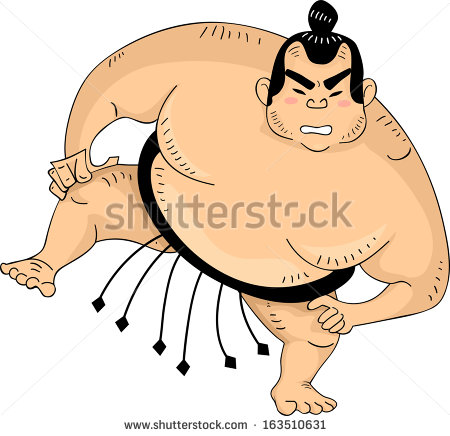 Sumo Wrestler Stock Images, Royalty.