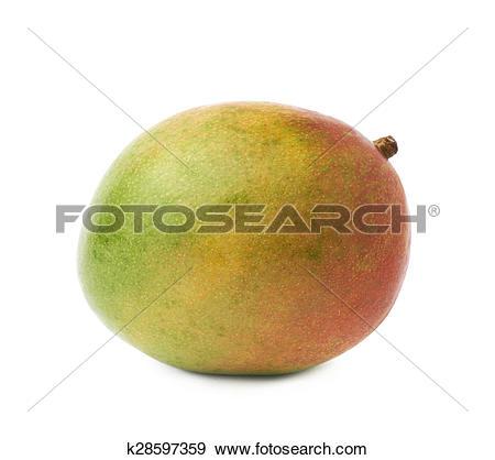 Stock Photograph of Single mango fruit isolated k28597359.