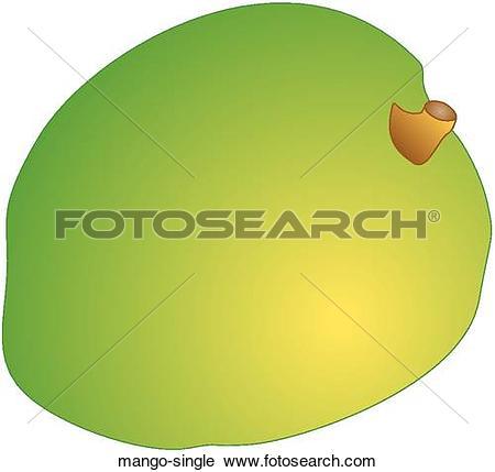 Clipart Of Mango Single