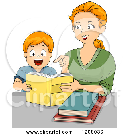 Single Mother And Sons Clipart.