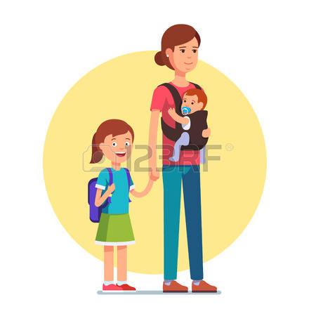 2,654 Single Mom Stock Vector Illustration And Royalty Free Single.