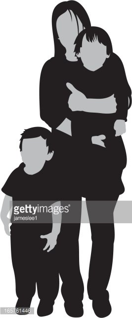 Single Mother Clipart Image.