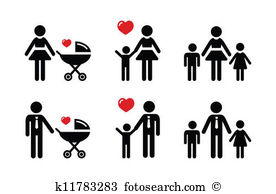 Single parent Clip Art Vector Graphics. 850 single parent EPS.