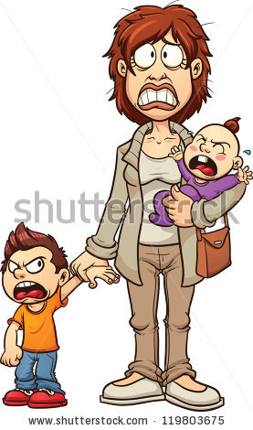 Single Mom Stock Vectors, Images & Vector Art.