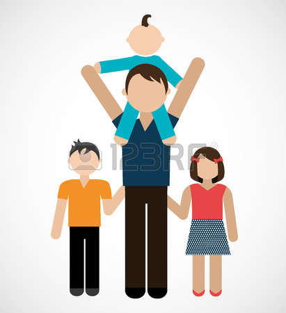 1,964 Single Parent Family Stock Vector Illustration And Royalty.