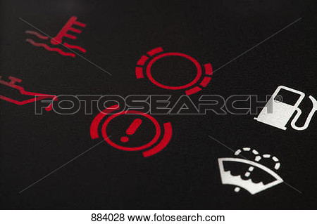 Single Red Cautionlight Clipart On Car.