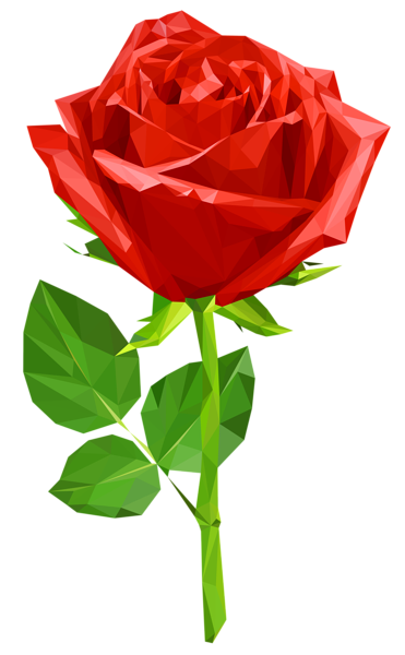 Single red rose clipart image roses red.