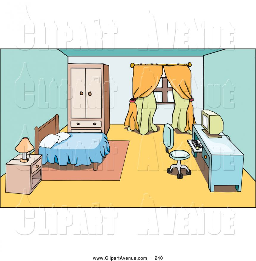 Furniture clipart bedroom desk.
