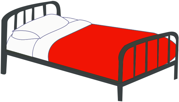 Free Single Bed Clipart, 1 page of Public Domain Clip Art.