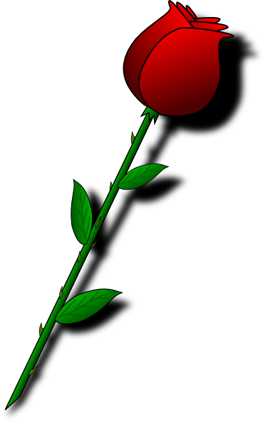 Single Rose Clip Art.