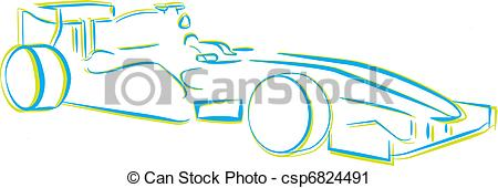 Vector Clip Art of Racing Car.