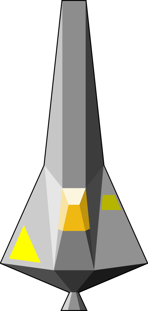 Single Seater Space Craft Clipart.