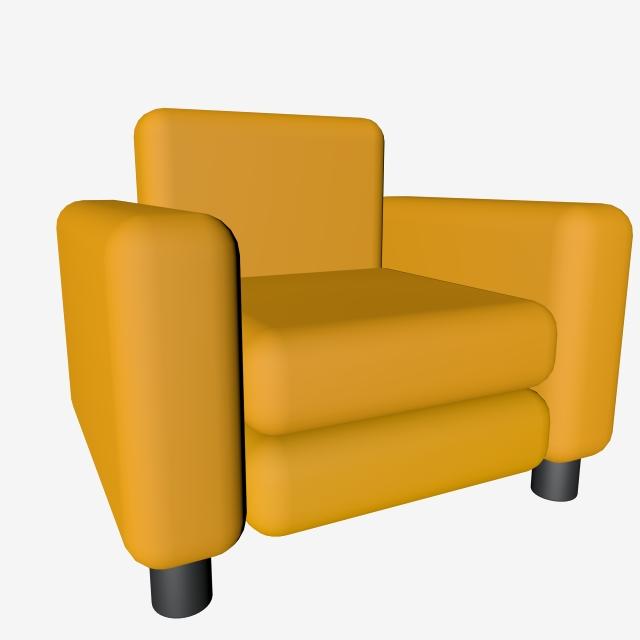 Simulation Furniture Single Sofa Png Free Buckle C4d Model.