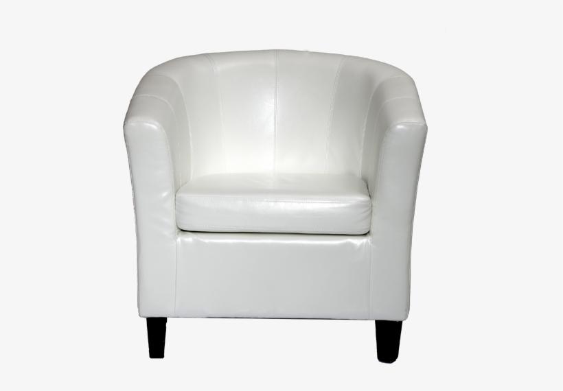 White Single Sofa Png Transparent PNG.
