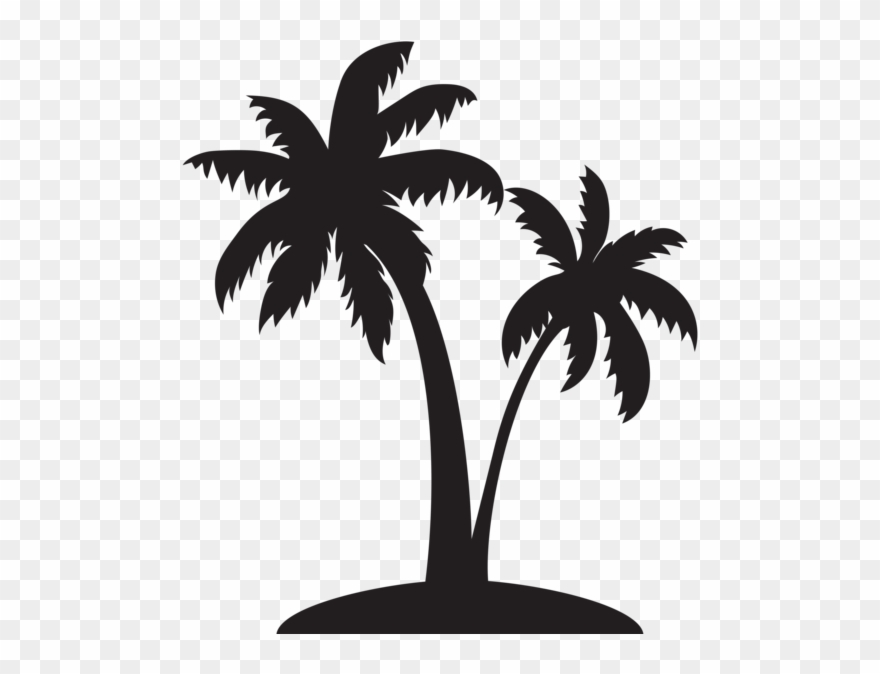 Single Palm Tree Silhouette.