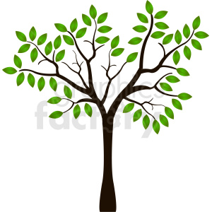 single tree design clipart. Royalty.