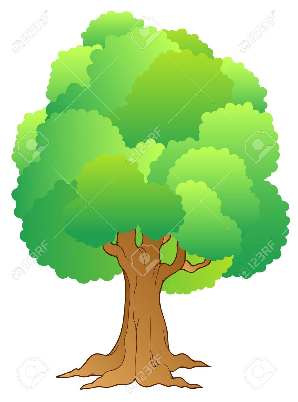 Forest Single Trees Clipart.