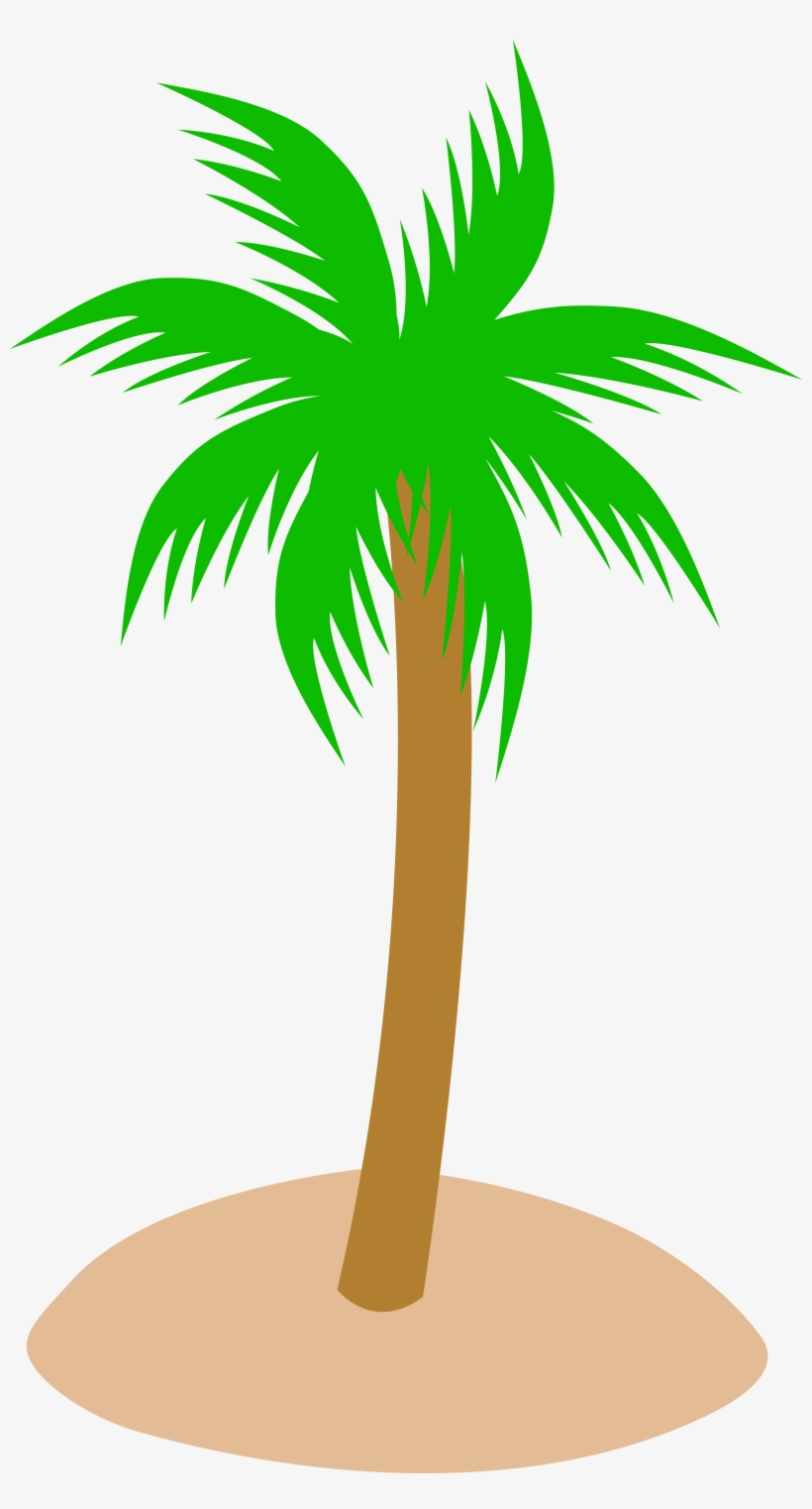 Single Clipart Coconut Tree.
