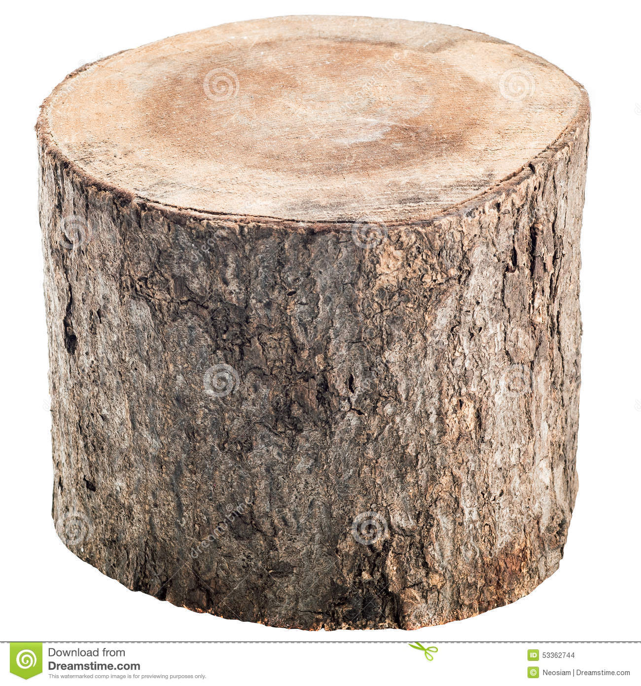 Single wood log clipart.