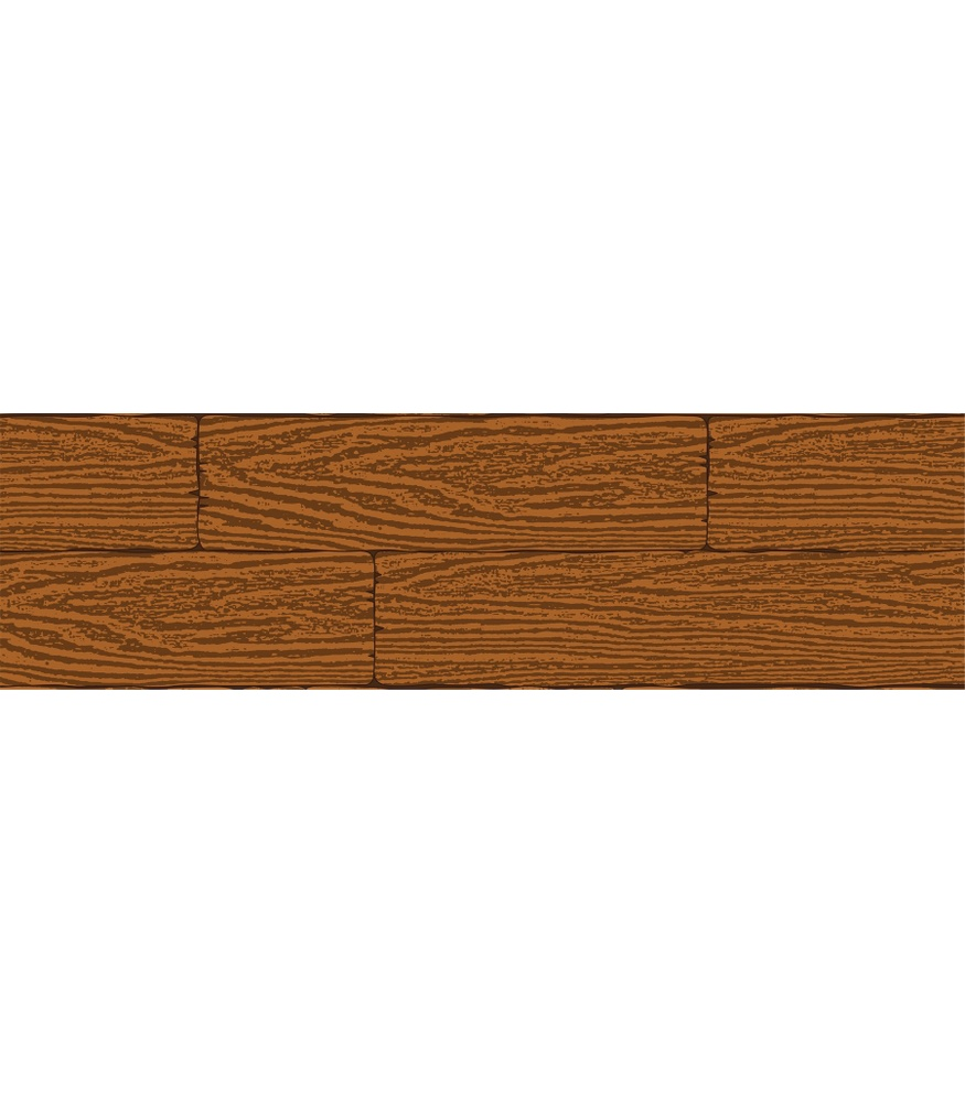 Single Wood Plank Clipart.
