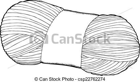 Vectors Illustration of Single Bundle of Yarn.