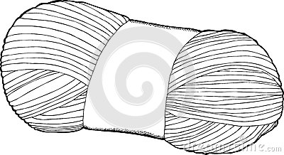 Single Bundle Of Yarn Stock Vector.