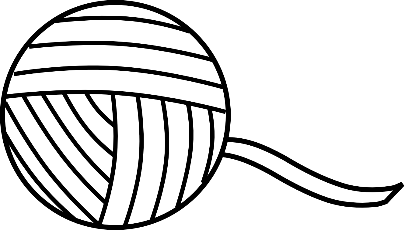 Yarn Clipart Black And White.