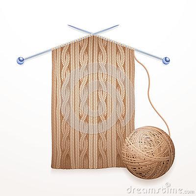 Single Lilac Ball Yarn Stock Illustrations.