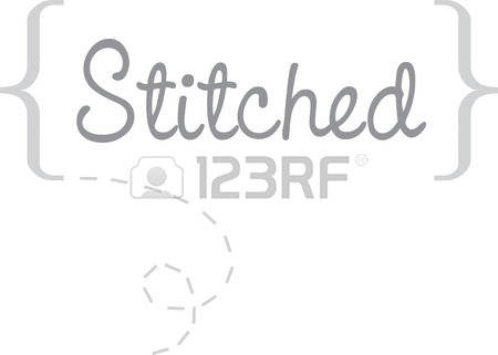417 Stitched Letters Stock Vector Illustration And Royalty Free.