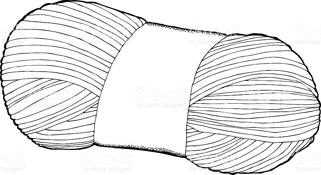 Yarn Clipart Black And White Single yarn clipart - ...