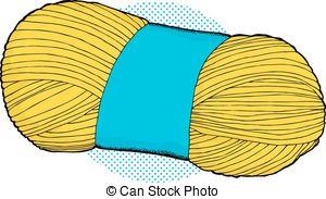 Single bundle of yarn Vector Clipart EPS Images. 3 Single bundle.