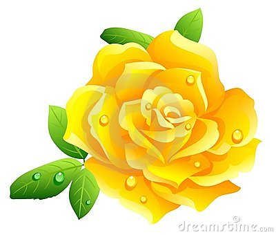 Single Yellow Roses Clipart.