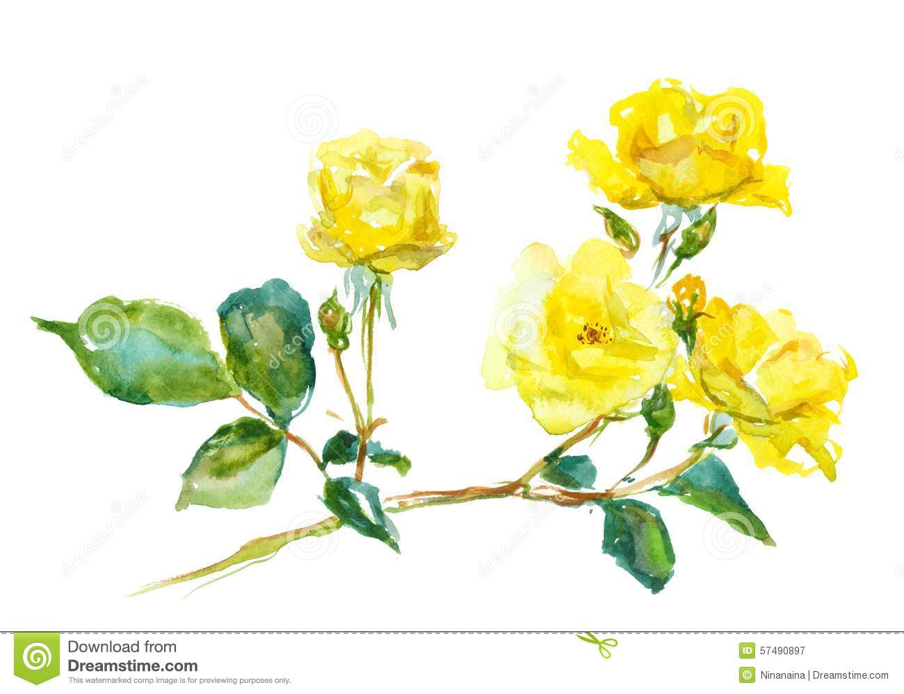 Single Rose Clipart: Single Yellow Rose Clipart