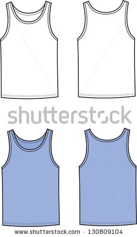 Vector Illustration Of Singlet. Front And Back Views.