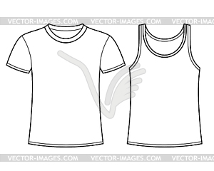 shirt and Singlet template.