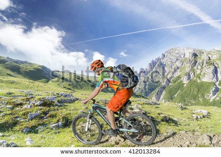 Mountainbike Stock Photos, Royalty.
