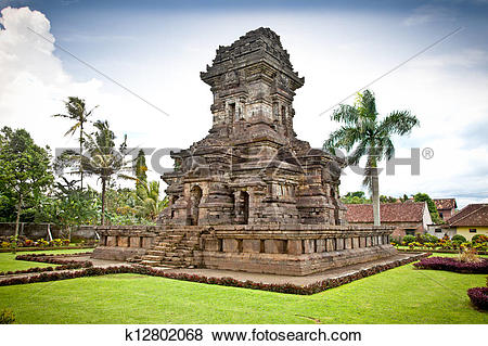 Pictures of Candi Singosari Temple near by Malang on Java.