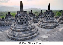 Stock Image of Candi Singosari Temple near by Malang on Java.