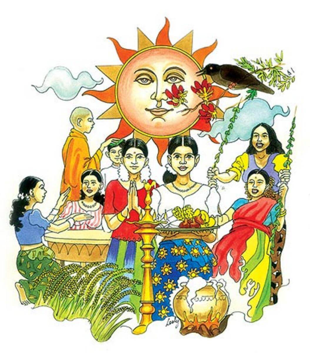 Sinhala and Tamil New Year in Sri Lanka.
