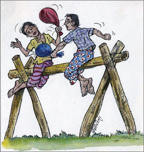 Sinhala and Tamil New Year Games in Sri Lanka.